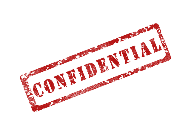 """Image is of the word """"Confidential"""""""