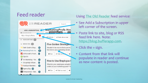 Image of RSS feed reader add subscription