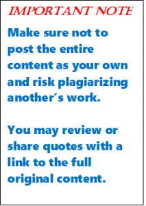 Important note to observe copyright laws