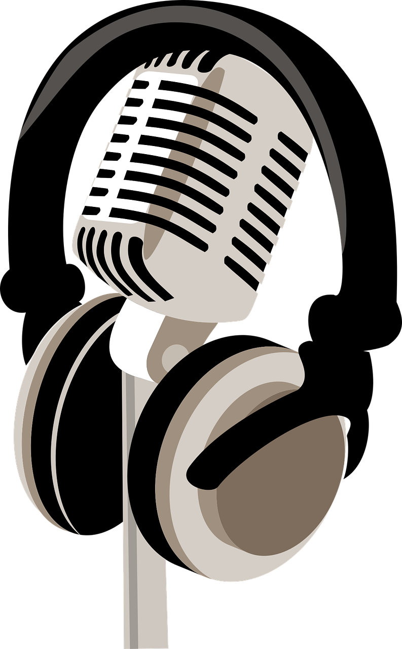 Image of microphone and headphones