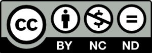 Image of Creative Commons NonCommercial-NoDerivatives with Attribution license logo