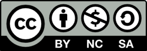 Image of Creative Commons NonCommercial-ShareAlike with Attribution license logo
