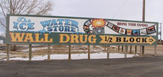 One of Wall Drug's famous outdoor billboard signs