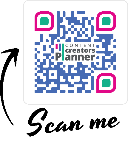 Image of QR code of link to Content Creators Planner for Trello