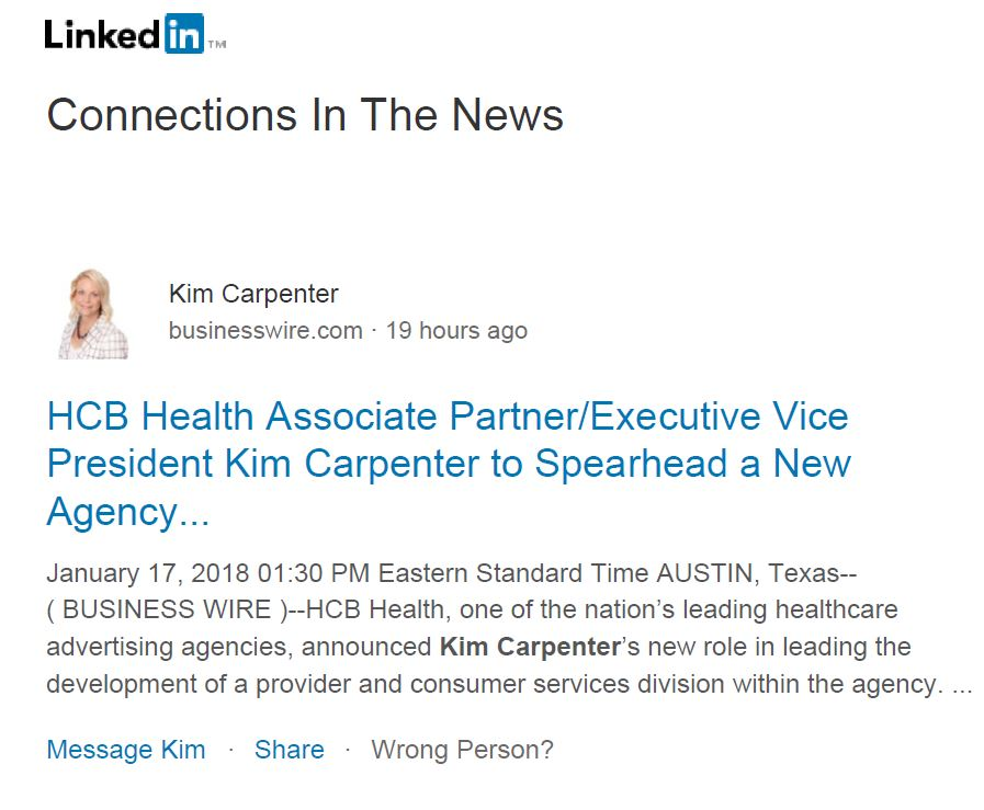 Image of LinkedIn Connections Mentioned in the News
