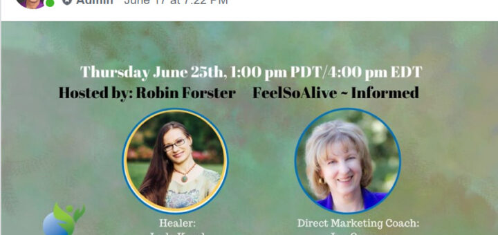 Image of promotion for Feel So Alive interview with Jan Carroza of Center for Direct Marketing